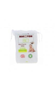 Toallitas maxi de algodón bio para bebé - BOCOTON - 60 Ud.