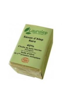 Savon d'Alep bio Rare Laurier 40 - Première pression - Lauralep - 150 gr.