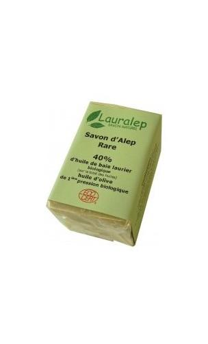 Savon d'Alep bio Rare Laurier 40% - Lauralep - 150 gr.