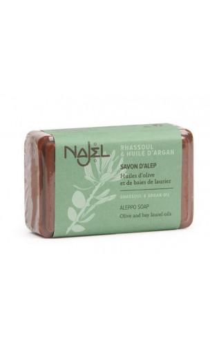 Savon d'Alep au rhassoul et à l'huile d'argan - Najel - 100 g.