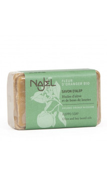 Savon d'Alep à la fleur d'oranger bio - Savon doux et sucré - Najel - 100 g.