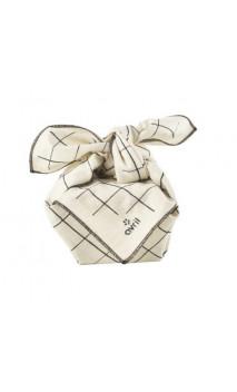 Furoshiki Carreaux - Coton bio - 52 cm -Avril