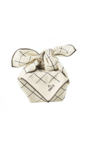 Furoshiki Carreaux - Coton bio - Avril
