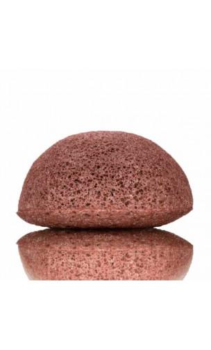 Éponge Konjac Originale à l'argile rouge Peau sèche et sensible - KONGY - 25 gr.