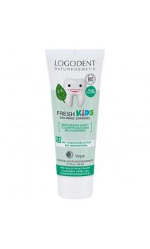 Gel dentifrice bio menthe douce Logodent Kids - Sans fluor - LOGONA - 50 ml.