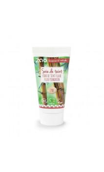 Recarga Base de maquillaje fluido ecológico - ZAO Make Up - 710 Pêche clair - 30 ml.