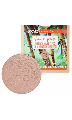 Recharge Shine Up Powder BIO - ZAO Make Up - 310 Champagne rosé - 9 gr.