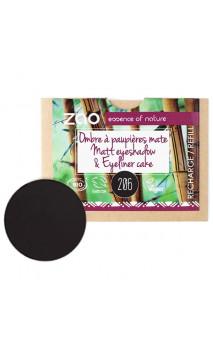 Recharge ombre à paupières bio - noir - Mate - ZAO - 206