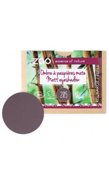 Recharge ombre à paupières bio - Violet sombre - Mate - ZAO - 205