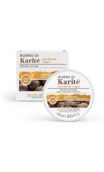 Beurre de karité bio à l'huile d'argan - Sapone di un Tempo - 100 ml.