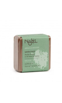Jabón de Alepo natural - Arcilla roja - Exfoliante - Najel - 100 g.
