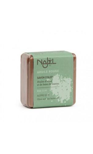Savon d'Alep à l'argile rouge - Savon exfoliant bio - Najel - 100 g.