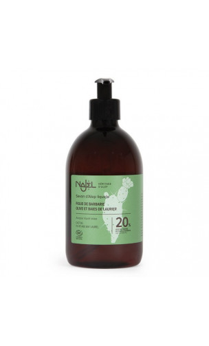 Savon d'Alep liquide - 20 huile de figue de Barbarie - Najel - 500 ml.