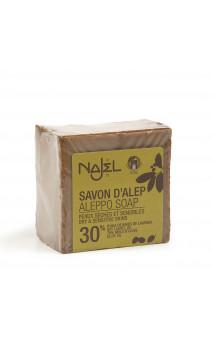 Jabón de Alepo natural Laurel al 30 - Najel - 185 g.