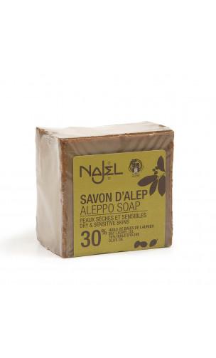 Savon d'Alep naturel 30 - Najel - 185 g.