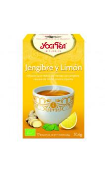 Infusion bio Yogi Tea Gingembre & Citron - YOGI TEA - 17 sachets x 1,8 g.