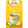 Infusion bio Yogi Tea Gingembre & Citron - YOGI TEA - 12 sachets x 1,8 g.