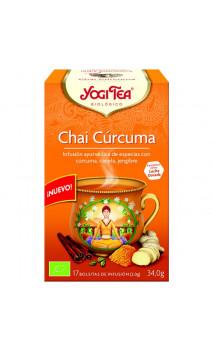Infusion bio Yogi Tea Chaï Curcuma - YOGI TEA - 17 sachets x 1,8 g.