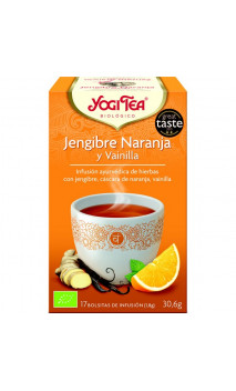 Infusion bio Yogi Tea Gingembre Orange à la Vanille - YOGI TEA - 17 sachets x 1,8 g.