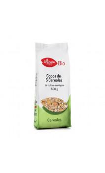 Copos de 5 Cereales Bio - El granero integral - 500 g