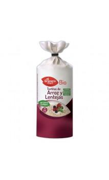 Tortitas de Arroz y Lentejas Sin Gluten Bio - El granero integral - 115 g