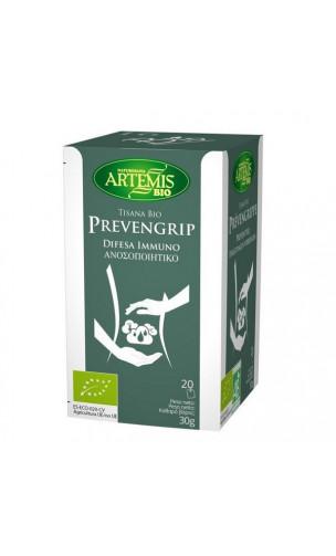 Tisana Bio Prevengrip - Complemento Alimenticio Sistema inmunológico - Artemis bio -  20 bolsitas x 1,5 g