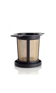 Filtre en métal pour thé bio - Couvercle noir - Alveus - Taille M