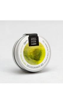 Déodorant bio solide Caricia de Seda (Caresse de soie) - Sans parfum et sans alcool - Amapola Biocosmetics - 60 g.