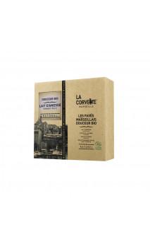 Caja 4 pastillas de jabón BIO - Pack regalo ecológico de La Corvette 4 x 100g