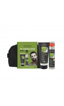 Neceser Hombre Ginkgo & cafeína -  Gel Champú y Desodorante - Pack regalo bio de Logona