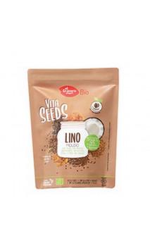 Semillas de lino molido BIO con Trigo Sarraceno Cacao y Almendras - Vitaseeds  - El granero integral - 200g
