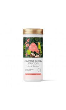 Savon douche en poudre bio Coco Hibiscus - Calmant - Peau sèche - Rechargeable - Eliah Sahil - 90 g