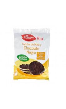 Tortitas de maiz con chocolate negro Bio - El granero integral - 2 ud