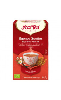 Rooibos Bio Yogi Tea Bonne nuit - Vanille - YOGI TEA - 17 sachets x 1,8 g.