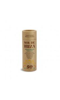 Stick solaire BIO SPF50 - Sans dioxyde de titane & Sans parfum - Sol de Ibiza - 40 g.