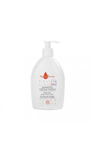 Gel delicado de baño Cuerpo & Cabello para bebé con Avena bio - NeBiolina - 500 ml