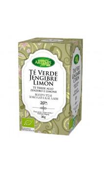 Té Verde Jengibre Limón BIO - Artemis Bio - 20 bolsitas