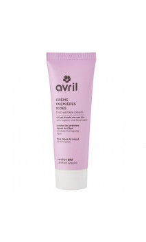 Crème visage bio premières rides - Eau florale de rose - Avril - 50 ml.