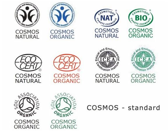 label COSMOS Standard Cosmétique BIO et naturelle