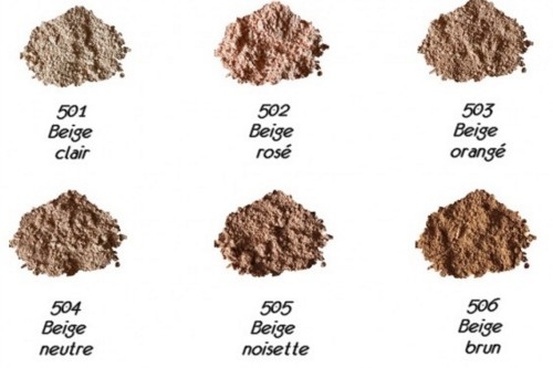 couleurs poudre minérale maquillage zao make up mineral silk