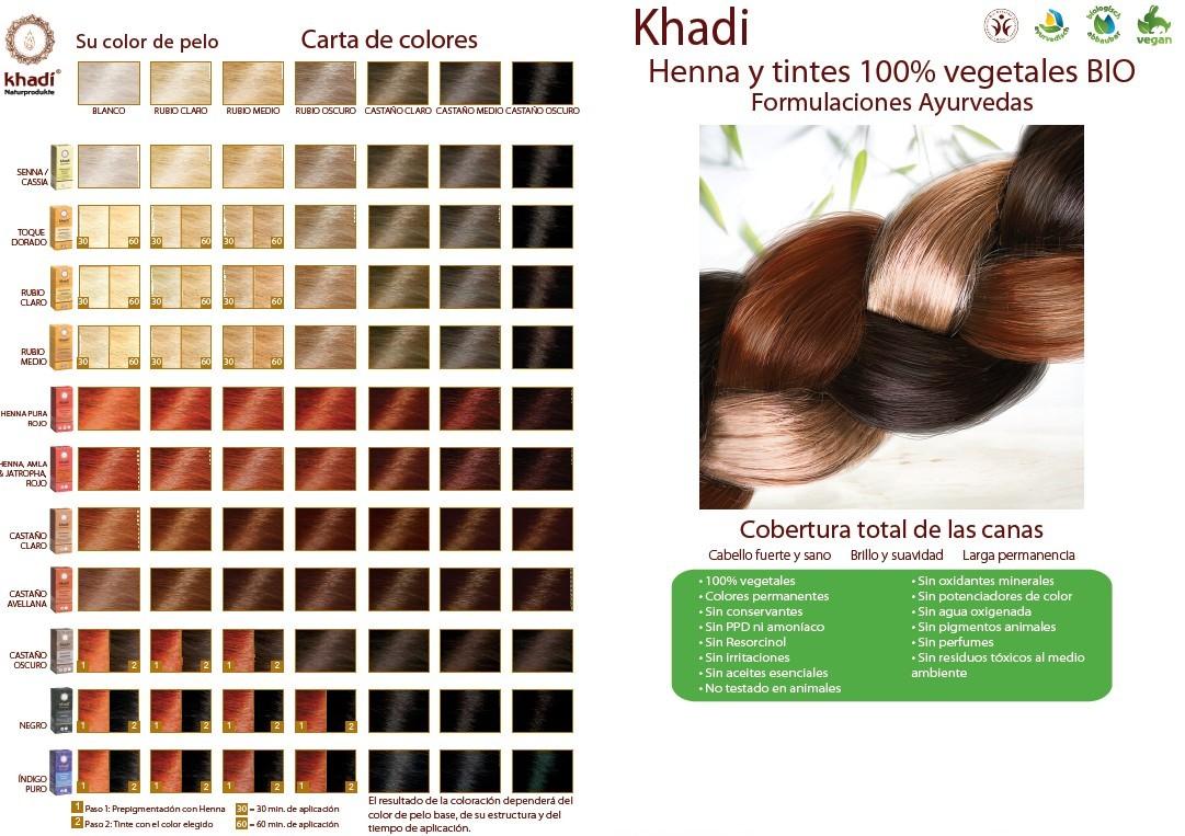 khadi tintes vegetales BIOferta