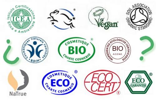 Principales sellos cosmética ecológica y natural