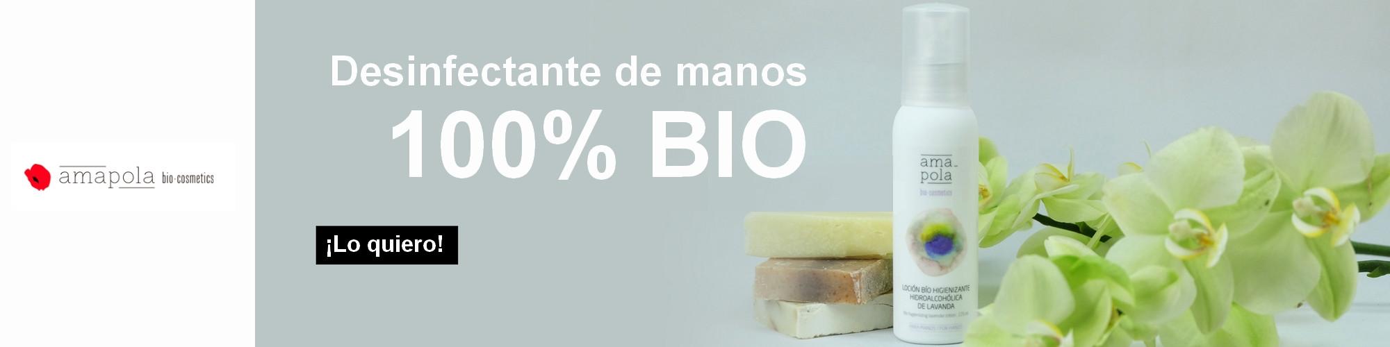 Desinfectante de manos ecológico certificado 100% - Amapola Bio-cosmetics